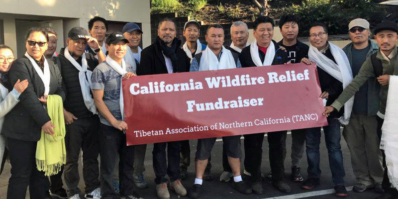 Tibetan Association Raised $7K for California Wildfire Relief