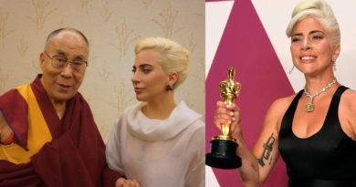Lady Gaga Wins Oscars, China Hides it for Meeting Dalai Lama