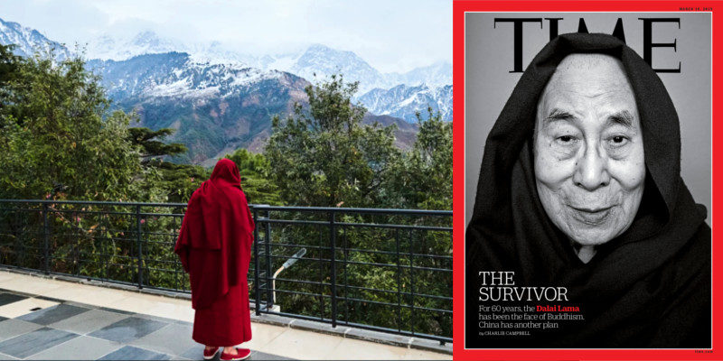 Dalai Lama On Time's Cover Once Again at 60 Years in Exile