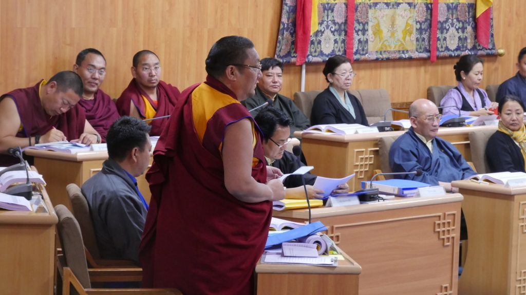 MP Geshe Lharampa Atuk Tseten speaking in TPiE