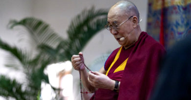 Dalai Lama Returns in Best Health, Cheerful Public Welcomes