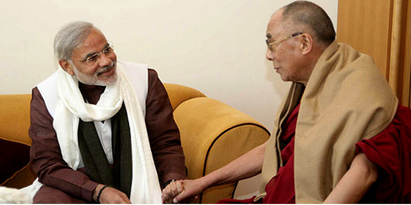 Dalai Lama Congratulates Modi on Impressive Return to Power