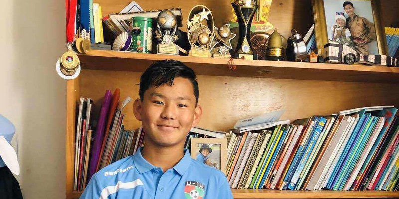 Tibetan Boy Selected to an Australian State Under 14 Football Team