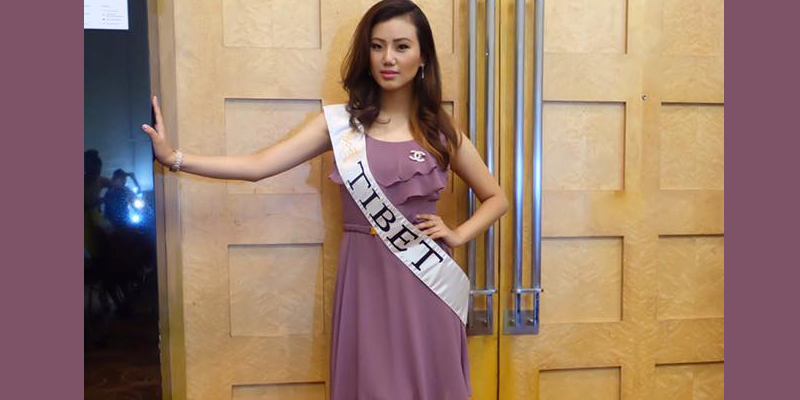 Miss Tibet 2016 Tenzin Sangnyi At Miss Global Pageant