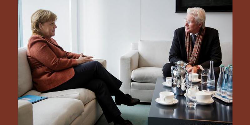 Richard Gere Discussed Tibet With German Chancellor Angela Merkel