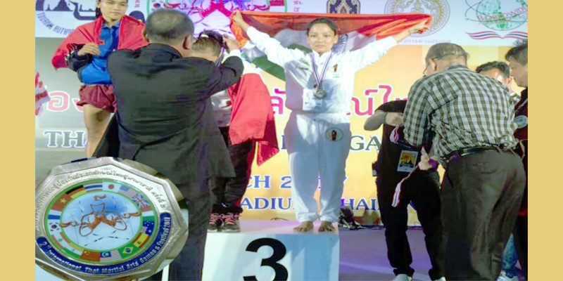 Tibetan Girl Wins Bronze In International Thai Boxing Championship
