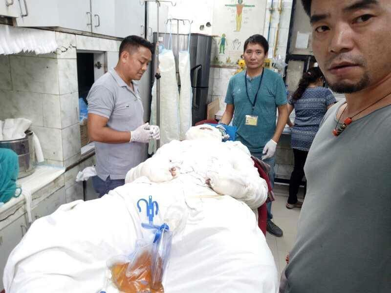 Tenzin Choeying at Safdarjung Hospital, New Delhi