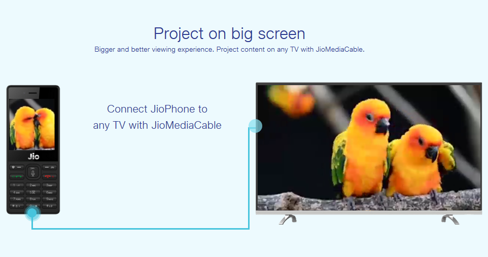Project on big screen with Jio Media Cable