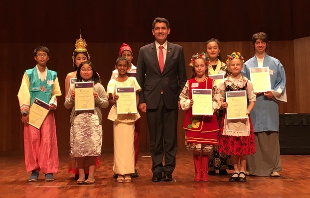 Winners of Minister's Award with Mr. Geoff Lee
