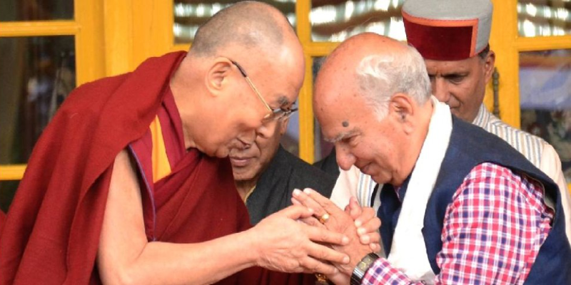 Former Chief Minister Demands Bharat Ratna For Dalai Lama