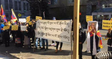 Group Of Tibetans Protest Outside Office Of Tibet, Washington D.C.