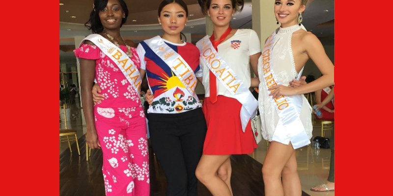 Miss Tibet Contesting For Miss Global In Cambodia