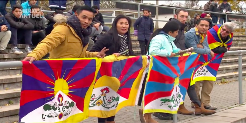 Tibetan Flag Makes Chinese Soccer Team Stop Game In Germany