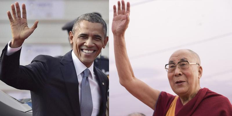 Barack Obama Meet Dalai Lama In New Delhi
