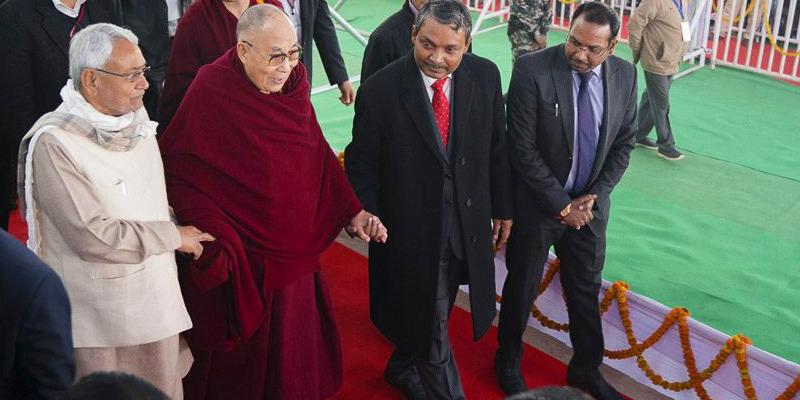 Delighted Whenever Dalai Lama Visits Bodhgaya: Bihar CM Nitish