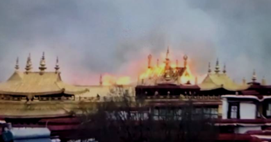 Major Fire Broke out at Sacred Jokhang Temple in Lhasa
