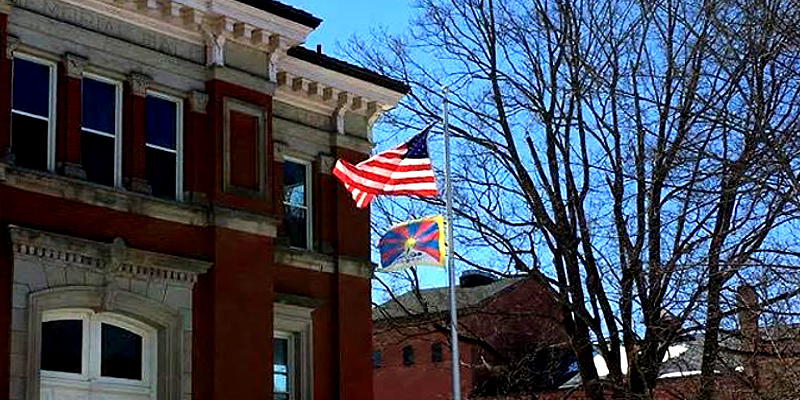 59 Days of Flying Tibetan Flag to Mark 59th Tibetan National Uprising Day in US