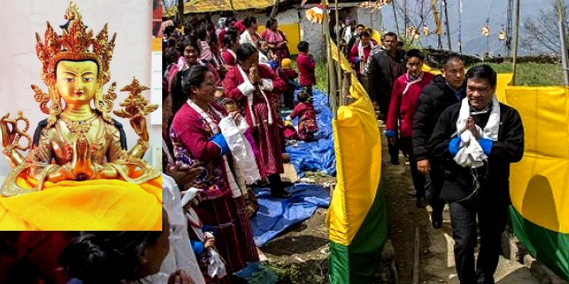 Dalai Lama's Sacred Gift Installed in Tawang Village