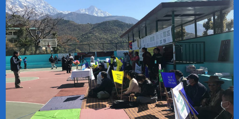 Tibetan Group Conclude Their Demonstration Against Sikyong