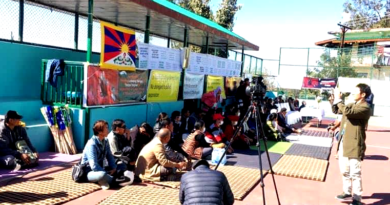Tibetan Volunteers Gather to Protest Against the Sikyong