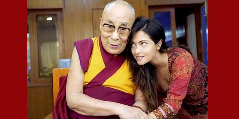 Bollywood Actress Riya Sen Seeks Dalai Lama Blessing