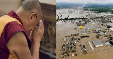 Dalai Lama Express Sympathy for Flood Victims in Japan