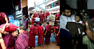 Tibetan Refugees Extend Helping Hand to Kerala Flood Victims