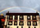 Beautiful Rainbow Captured Over Tibet's Jokhang Temple
