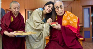 Tollywood Actress Blessed by the Dalai Lama on her Birthday