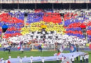 French Football Fans Form Giant Free Tibet Word in The Stadium